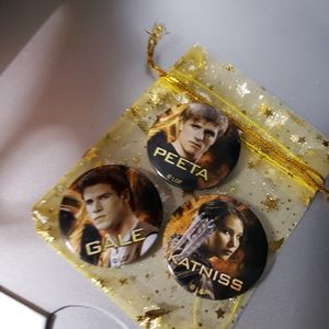 Hunger Games button pin lot